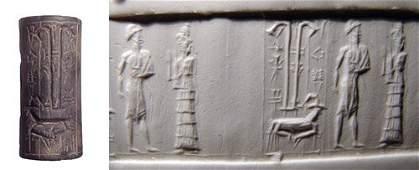 939: Old Babylonia, c.1850 BC. A nice hematite cylinder