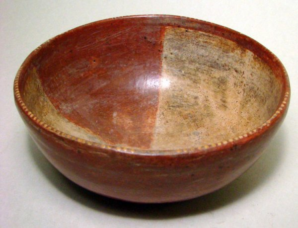 7. A LOVELY CHINESCO REDWARE CERAMIC BOWL