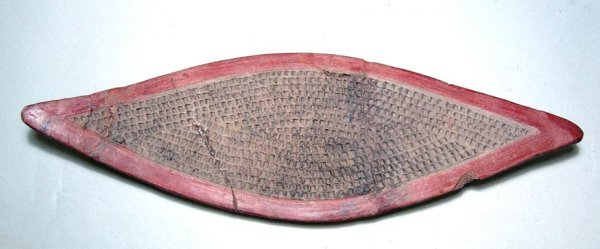 """18. A CHORRERA CERAMIC """"FISH PLATE"""" IN NICE CONDITION"""