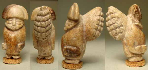"""22. RARE CHIMU STONE CARVING OF THE """"MAIZE"""" OR CORN GOD"""