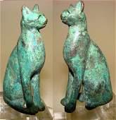 76. BEAUTIFUL EGYPTIAN BRONZE CAT FIGURE
