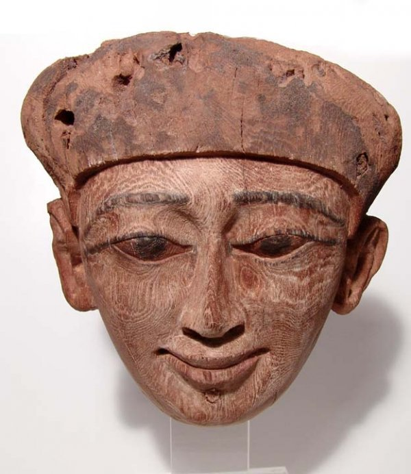 112. TOP QUALITY EGYPTIAN WOOD MASK
