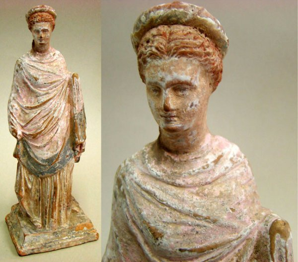168. MUSEUM QUALITY CANOSAN TERRA COTTA LADY