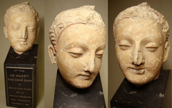 1: A GIFT FROM A KING -- Greco-Buddhistic stucco head,