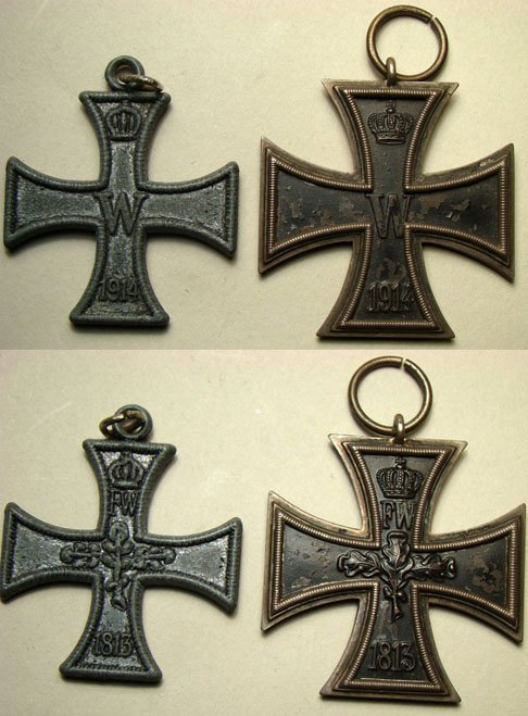 "9: Germany, 1914, a lot of 2 WWI  ""Iron Crosses"" 2nd cl"