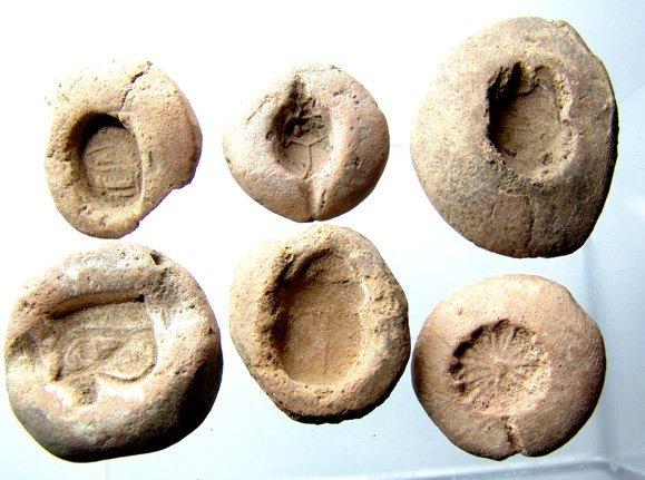508: New Kingdom, A lot of 6 terra cotta mold-Armana