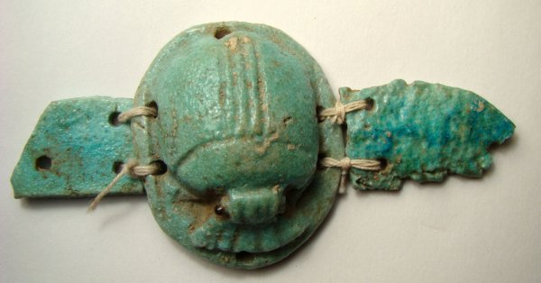 """509: Egypt, Late Period, Nice """"Winged Scarab"""""""