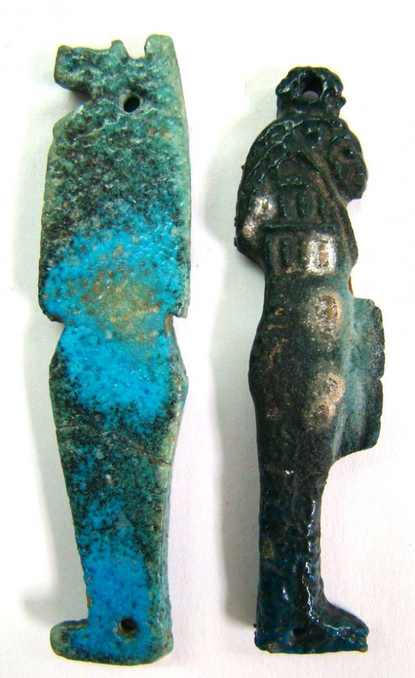 510: Egypt, Late period. Two nice amulets-both choice!
