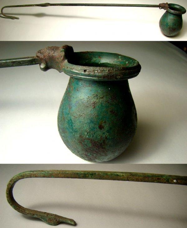 "519: Ancient Greek-----museum quality ""Bronze Dipper"""