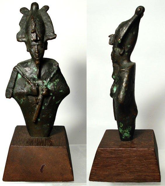 "2: Egypt, A Large Bronze Figure of Osiris. 7"""