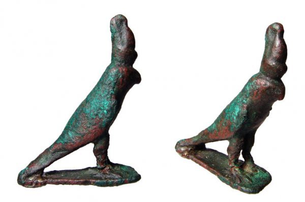 4: Egypt, A Choice Bronze Horus Falcon. Nice!