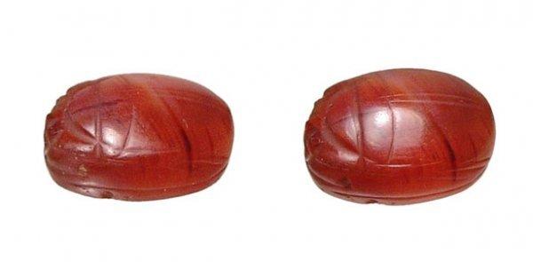 12: Sinai, 2nd Millenium BC. A nice carnelian scarab