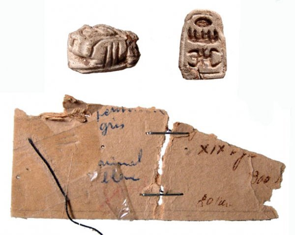 17: New Kingdom, c. 1539 - 1075 BC. STEATITE SCARABOID