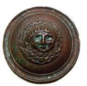 181 Roman c 1st  3rd   Bronze appliqu w MEDUSA
