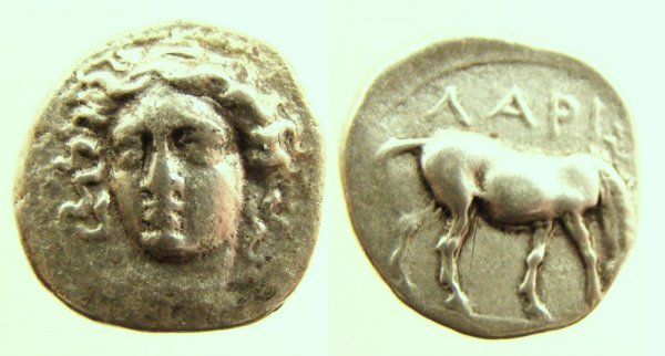 12: Greece, Thessaly, Larissa. c. 400–370 B.C. AR Drach