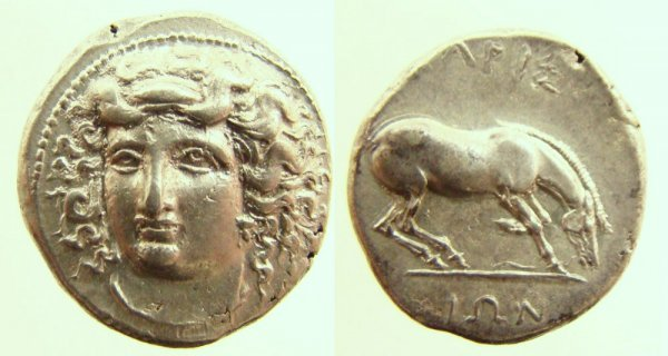 13: Greece, Thessaly, Larissa. c. 350–345 B.C. AR Drach