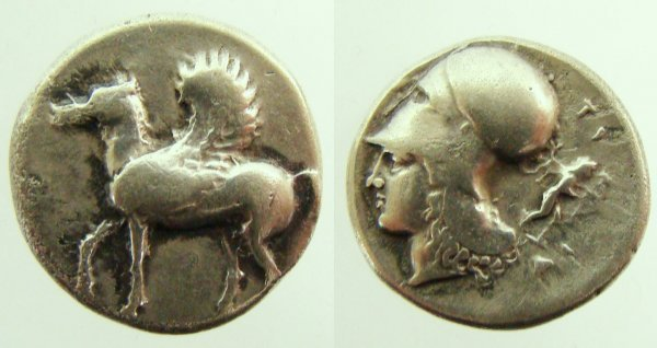 20: Greece, Corinth. c. 400–350 B.C. AR Stater (8.33g).