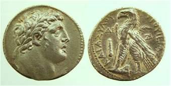 31: Phoenicia, Tyre. 113/2 B.C. AR Tetradrachm (14.11g)