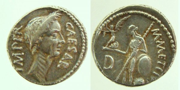 46: Roman, Julius Caesar. 100–44 B.C. AR Denarius (4.12