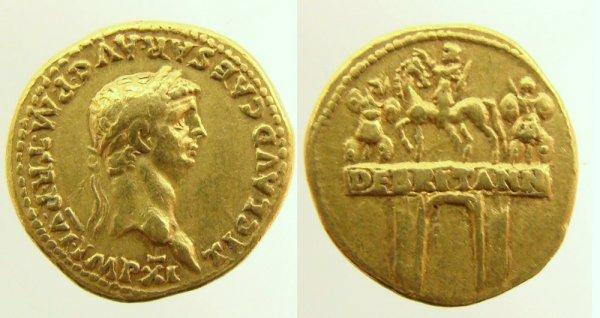 55: Roman, Claudius. 41–54 A.D. AV Aureus (7.79g). Rome