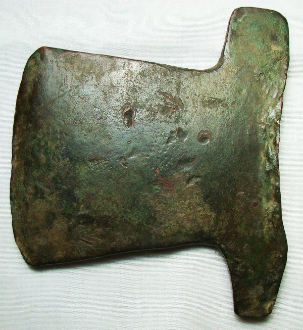 124: Egypt, New Kingdom, BRONZE AXE BLADE