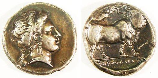 1: Campania, Neapolis. c. 320–241 B.C. AR Stater (7.18g
