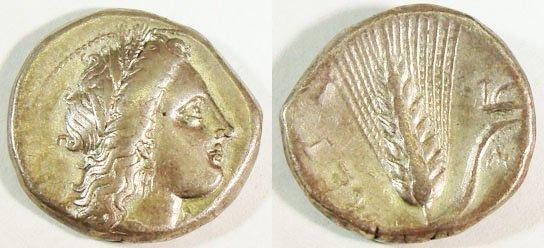 4: Lucania, Metapontum. c. 330–300 B.C. AR Stater (7.66