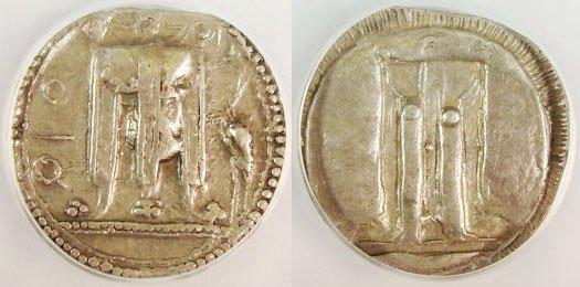 5: Bruttium, Croton. c. 530–510 B.C. AR Stater. QPO, tr