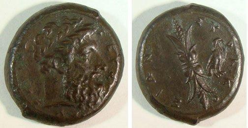 9: Syracuse. c. 367–344 B.C. Æ Hemidrachm (22x25mm, 13.