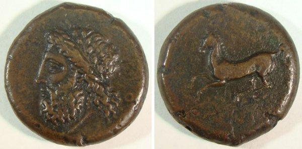10: Syracuse. c. 344–317 B.C. Æ Drachm (26mm, 18.44g).