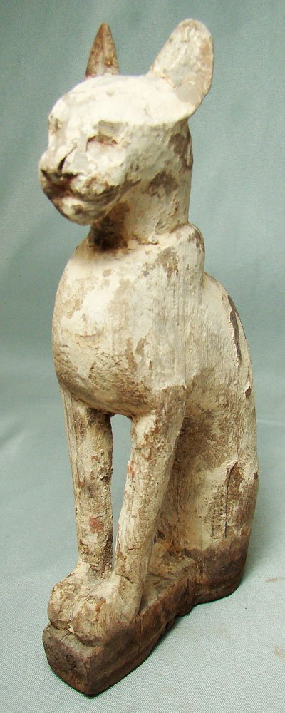503: Egyptian, New Kingdom, finely carved wood cat