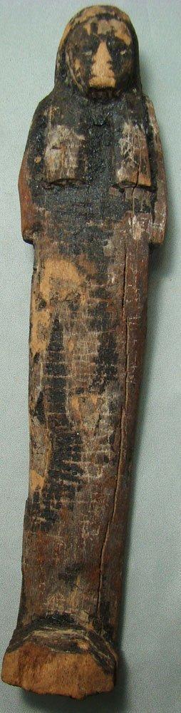 504: Egypt, New Kingdom, tall and slender wood ushabti