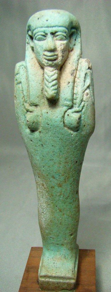 509: Egypt, XXVI -blue colored faience ushabti
