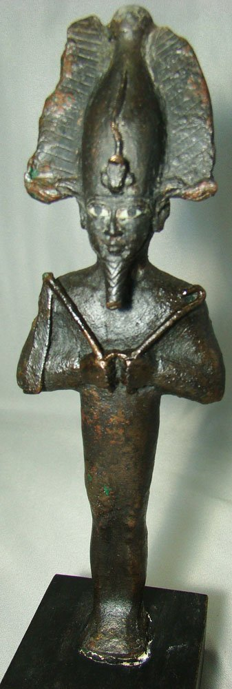 511: Egypt, XXVI Dyn. FANTASTIC standing Osiris bronze