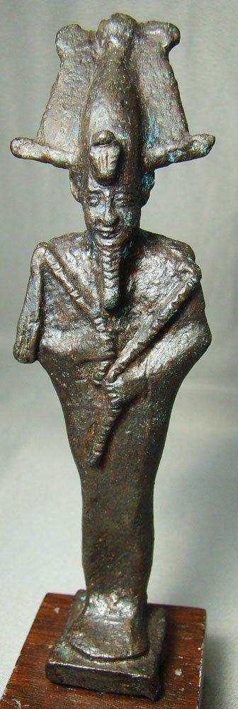 514: Egypt, XXVIth Dyn., choice standing Osiris bronze