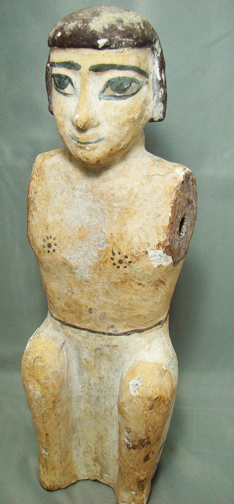 515: Egypt, XXVI Dyn. a tall wooden figure of a male