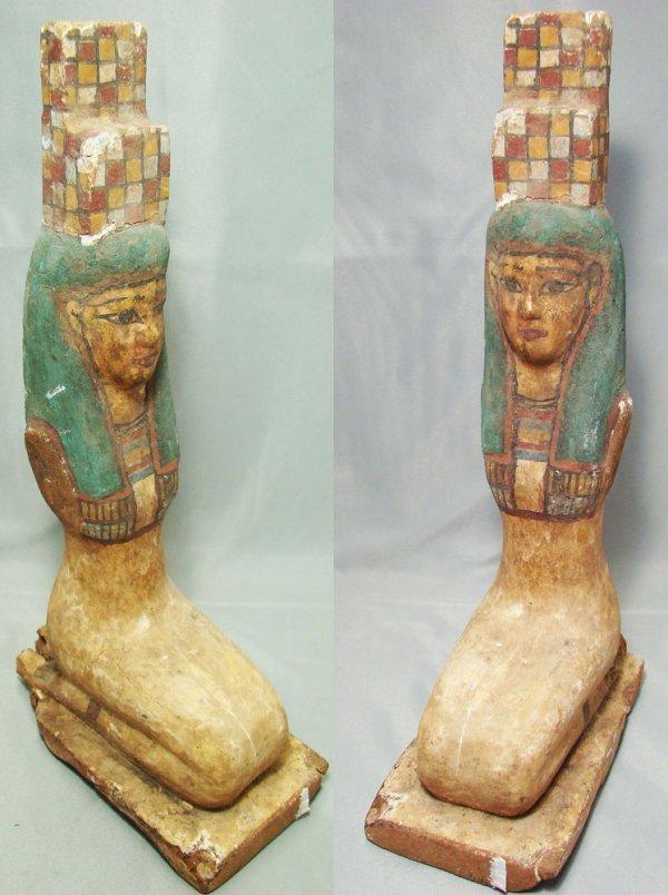 516: Egyptian, XXVI,  painted kneeling female figure