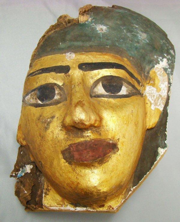 517: Egypt, XXVI Dynasty, thick wood face mask