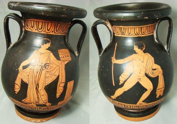 """664: Apulia, c. 380BC., FANTASTIC red figure """"pelike"""""""