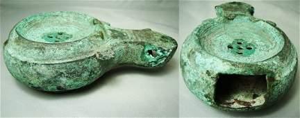 781 Roman c 100300AD SCARCE bronze oil lamp