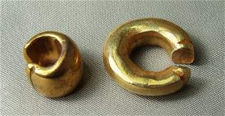 842 Panama c 1000 AD 2 high karat GOLD nose rings
