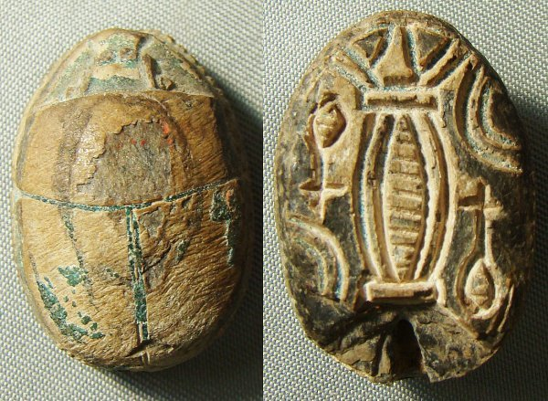 9: Egypt, New Kingdom, 1539-1075BC., a nice scarab with