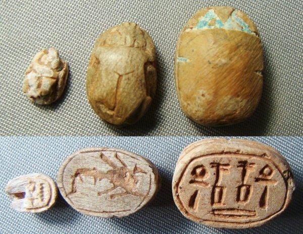 11: Egypt, New Kingdom, 1540-1070BC., a lot of 3 small
