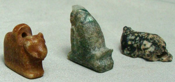 13: Egypt, New Kingdom, 1570 - 1075 BC., a lot of 3 sma