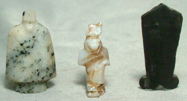 14: Egypt, New Kingdom, 1570 - 1075 BC., a lot of 3 sma