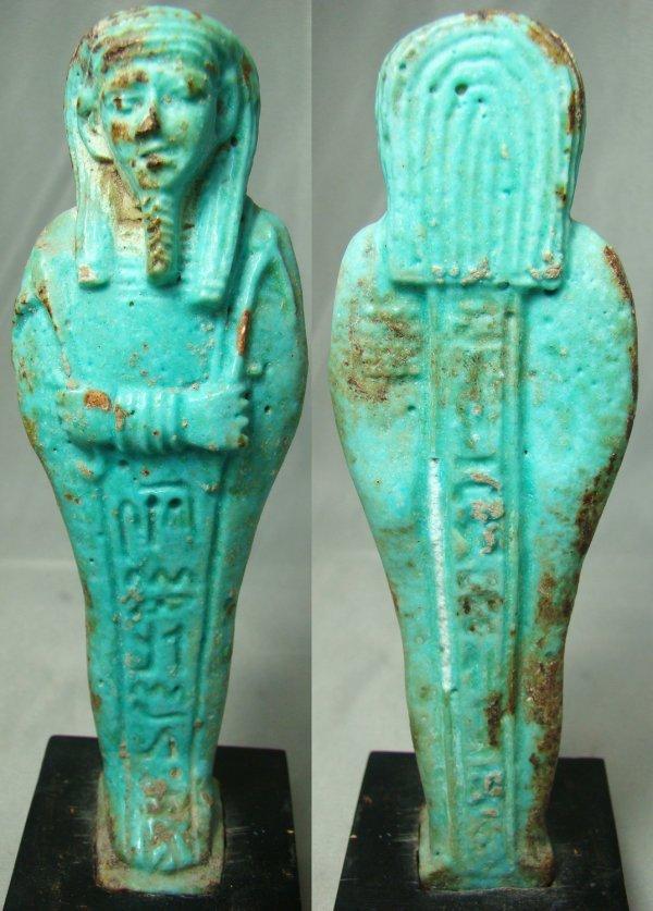 19: Egypt, XXVI Dynasty, c. 664-525BC, a lovely blue-gr