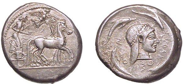 5: Syracuse. c.480-475 BC. AR Tetradrachm. 17.26g. Char