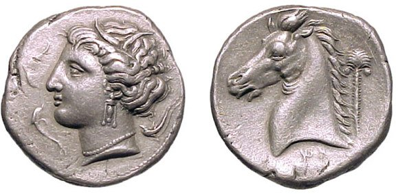 6: Siculo-Punic. c.317-306 BC. AR Tetradrachm. 16.86g.