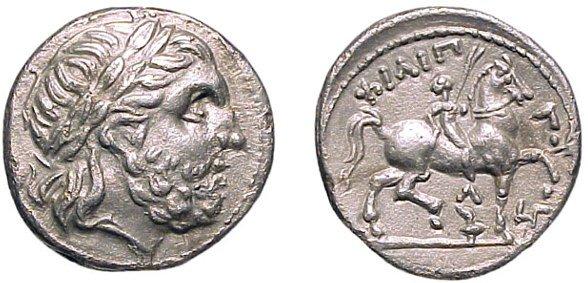 8: Philip II AR Tetradrachm, 316-295 BC. Amphipolis. 13