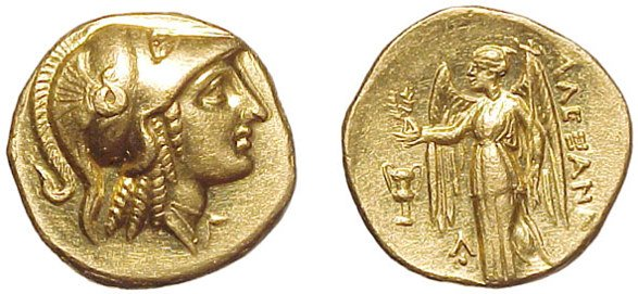 9: Alexander the Great. 336 – 323 BC. Gold Stater, c.33